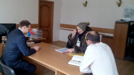 В селе Береговое прошел прием граждан