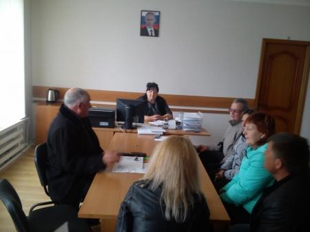 Глава села Береговое провела прием граждан