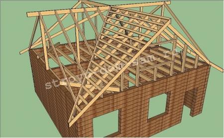 Как сделать крышу дома 8х8